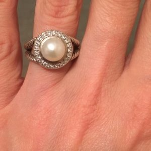 David Yurman Pearl & Diamond Ring